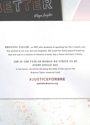 Justice for Breonna Taylor Inspirational Stationery