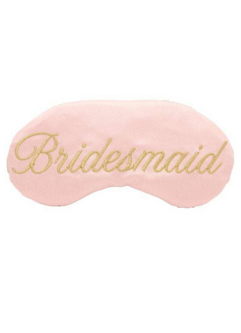 Embroidered Bridesmaid Sleep Mask