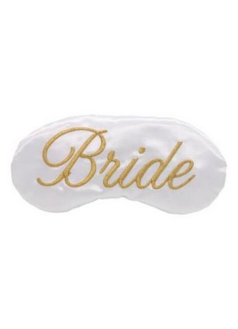 Embroidered Bride Face Mask