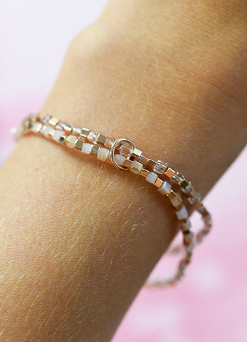 Metallic Pink Double Bracelet