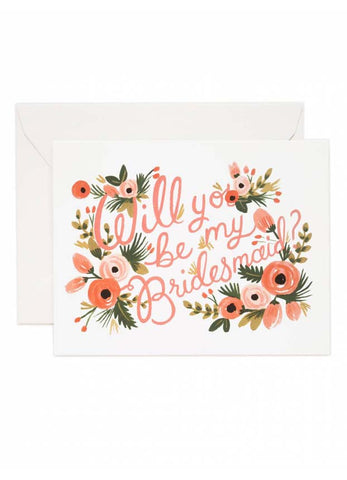 Will You Be My Bridesmaid Card (Floral)