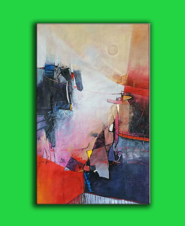 abstract acrylic art on canvas