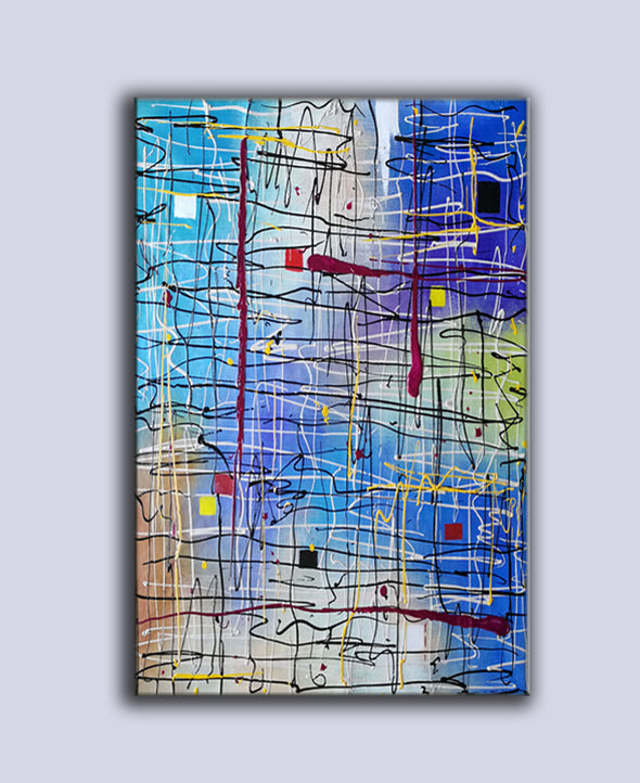 large acrylic abstract paintings