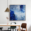 Blue modern abstract art, landscape painting L212