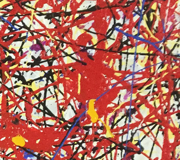 jackson pollock red painting