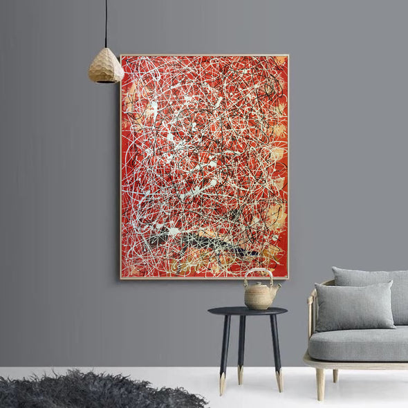 dripping splatter painting