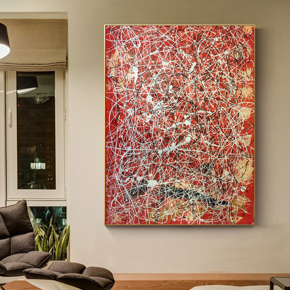 splatter painting style paintings for sale
