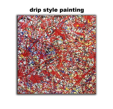 Jackson Pollock Oil Painting on Canvas abstract art home decor drip style painting L229