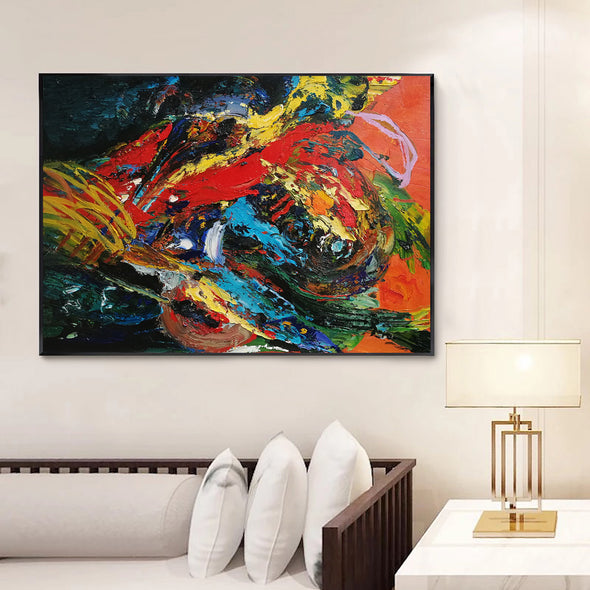 oil on canvas abstract art