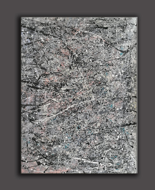 pollock style painting