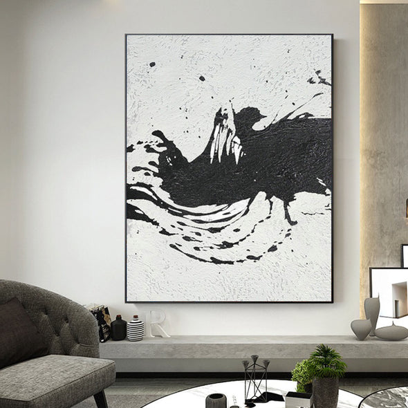 black & white paintings contemporary