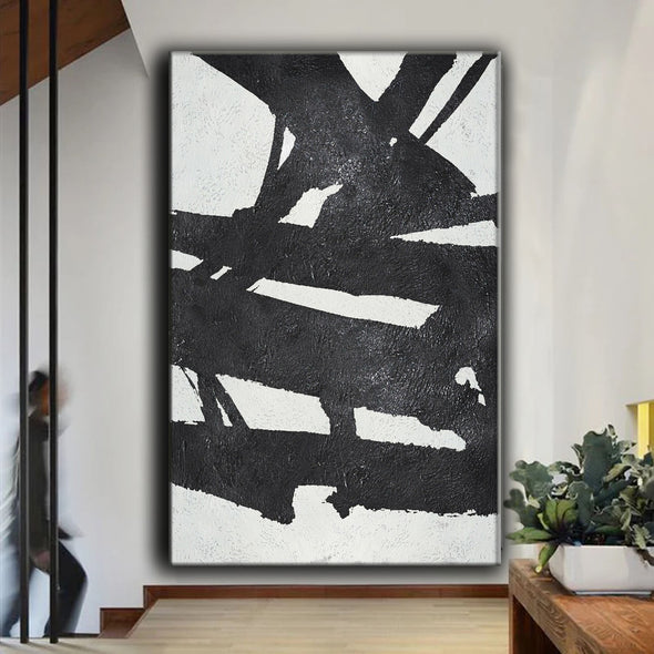 hand painted abstract canvas
