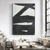 oversized black and white wall art