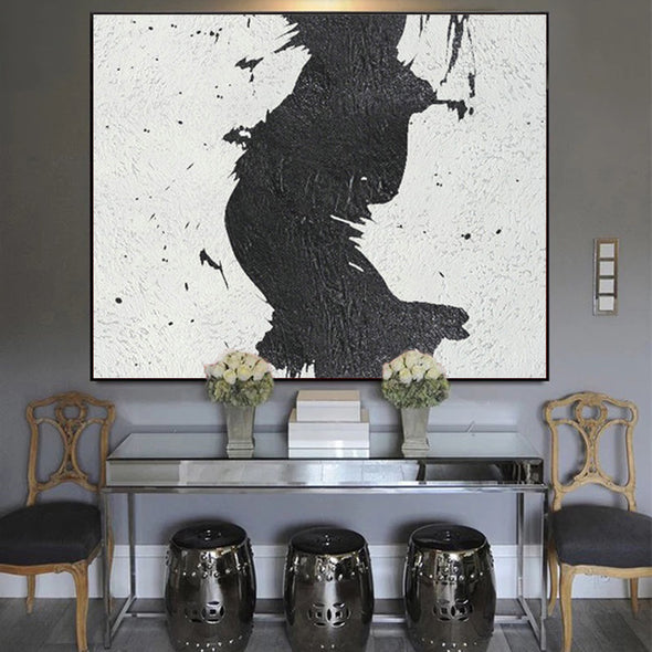 big black and white canvas
