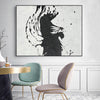 black white abstract painting