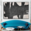 oversized black and white canvas art