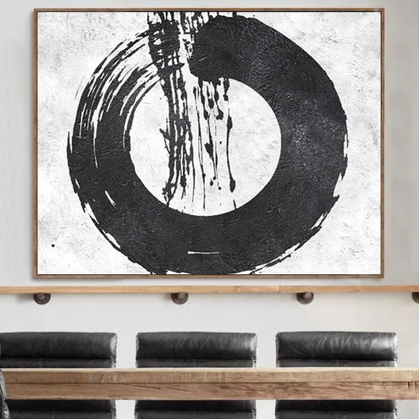 oversized abstract painting