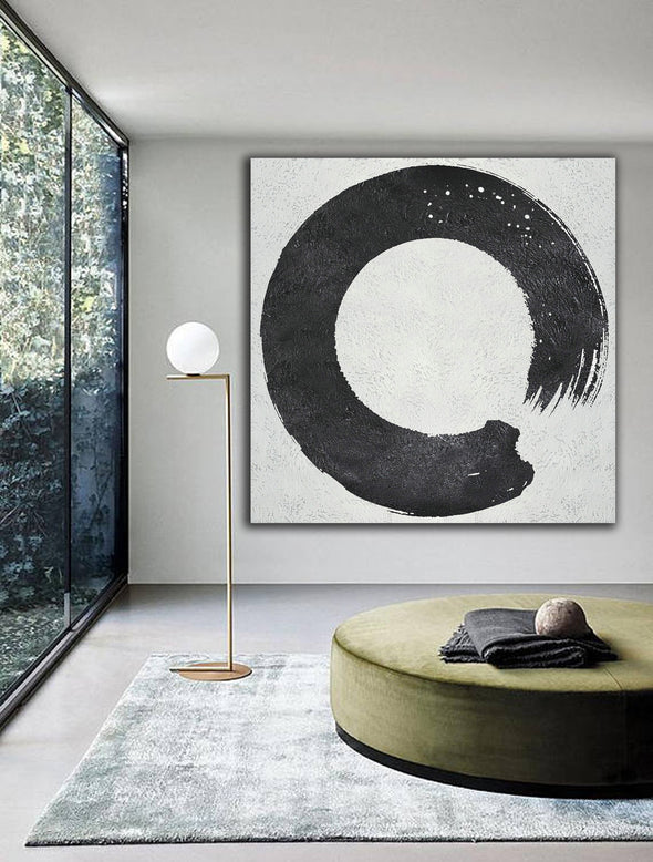 Black large canvas art for sale, abstract artwork paintings L401