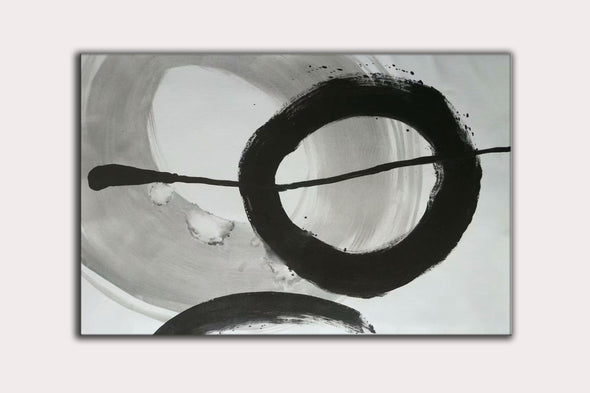 black and white contemporary paintings