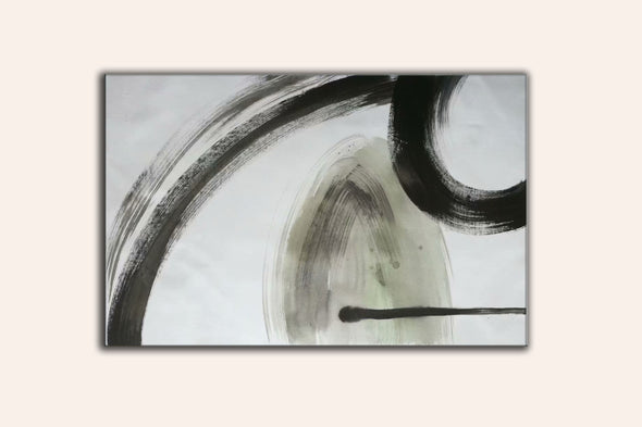 black white and gray abstract art