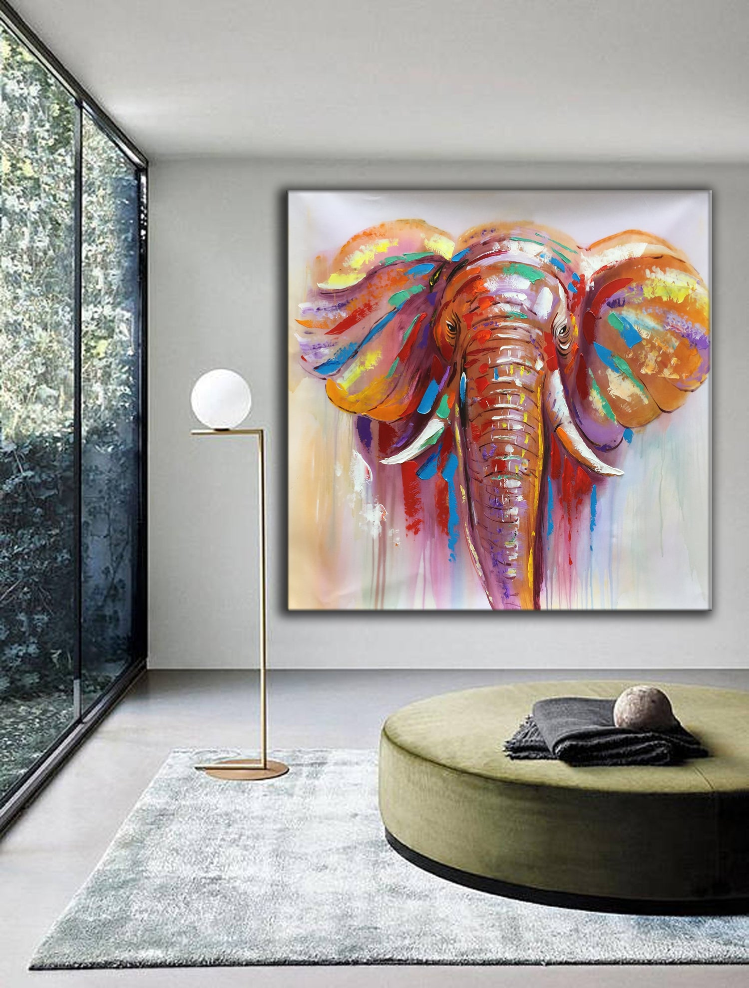 Contemporary art paintings, extra large canvas art L13