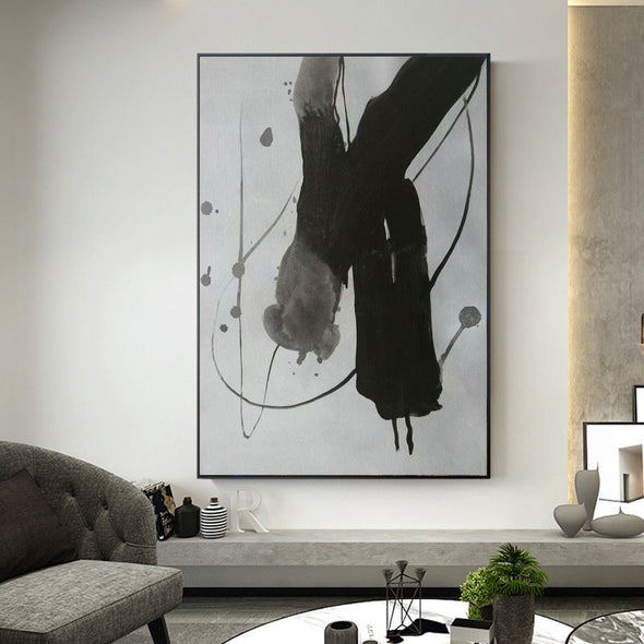 black white and grey paintings