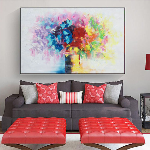 modern abstract acrylic painting