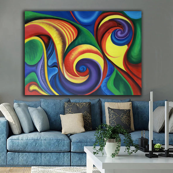 abstract canvas oil paintings for sale