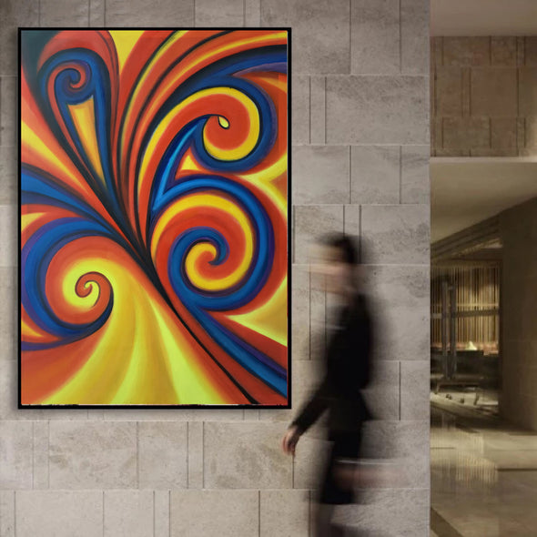 large canvas contemporary paintings