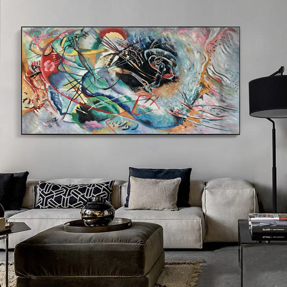 large abstract canvas wall art