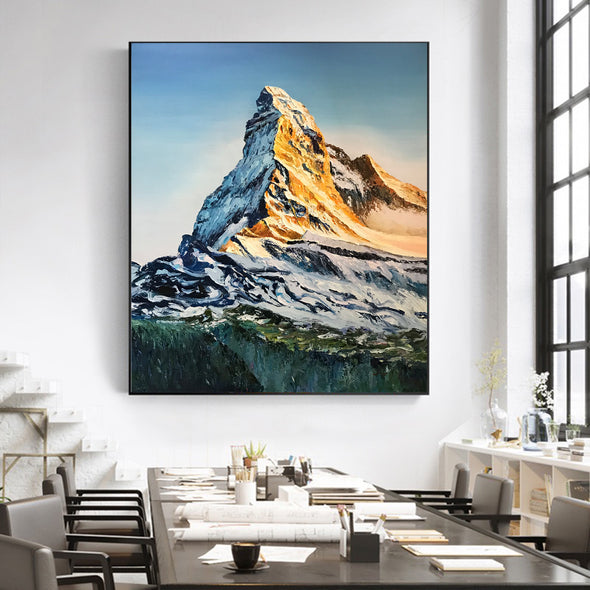 abstract mountain paintings
