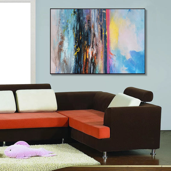 colorful abstract paintings on canvas