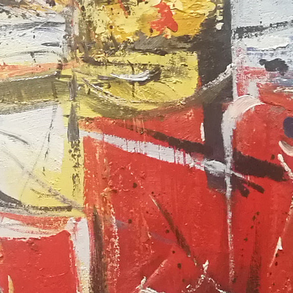Red types of abstract art, contemporary oil paintings L580