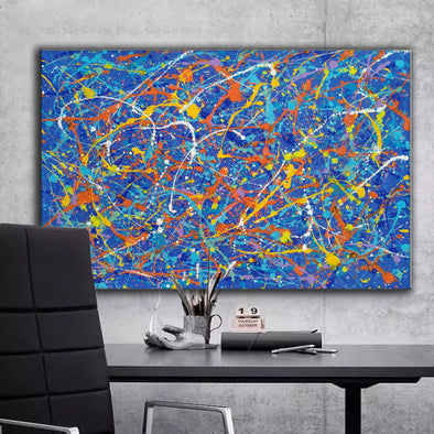 splatter painting famous paintings