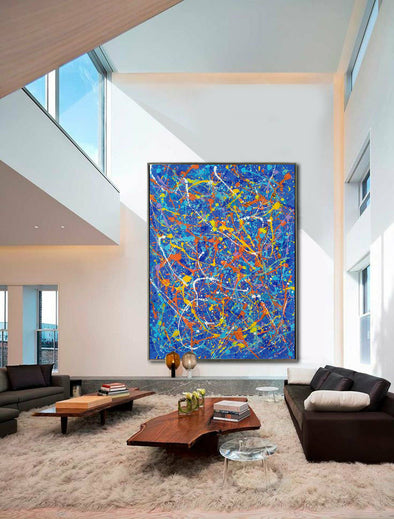 abstract artist splatter painting
