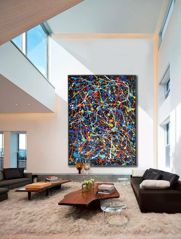 contemporary painting LargeArtCanvas
