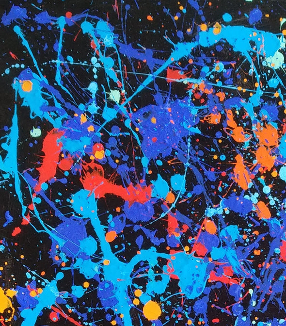 splatter painting original paintings