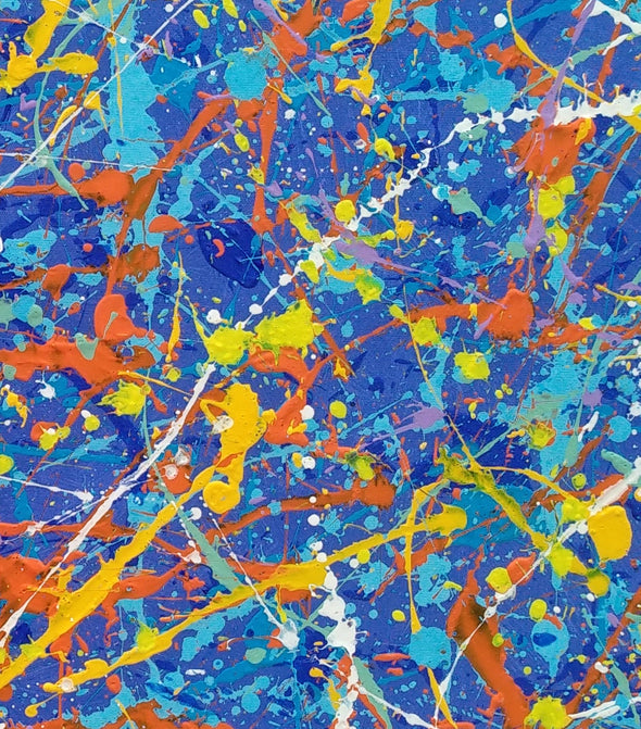 Paint drip painting | abstract painting L632