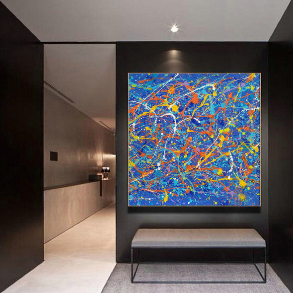 large abstract painting LargeArtCanvas