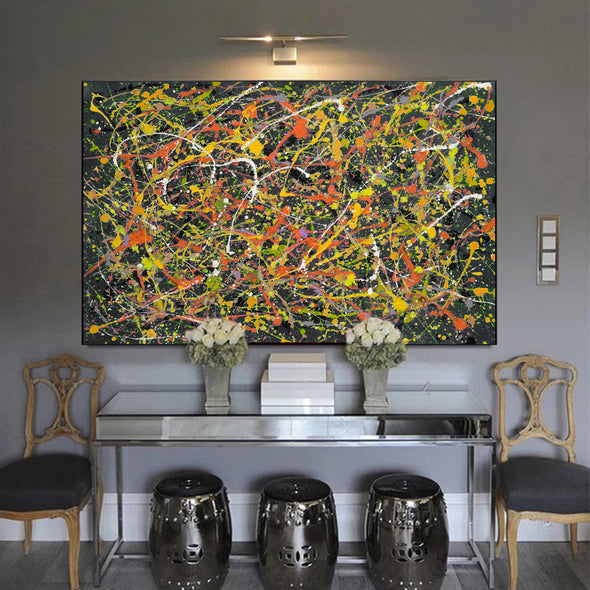 splatter painting convergence canvas