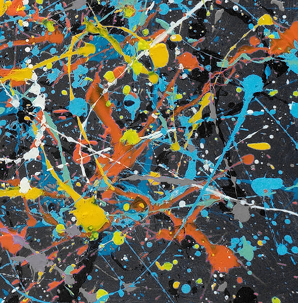 splatter painting abstract