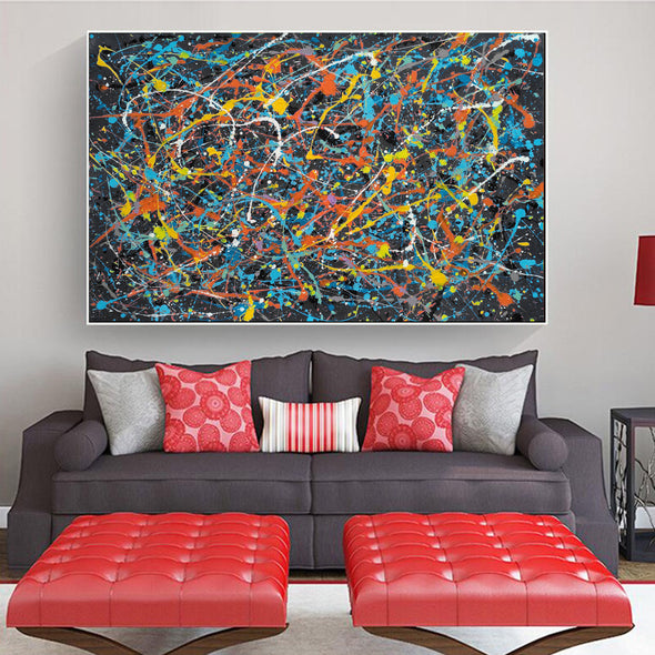 abstract splatter painting