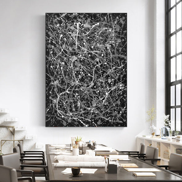 colorful abstract painting LargeArtCanvas