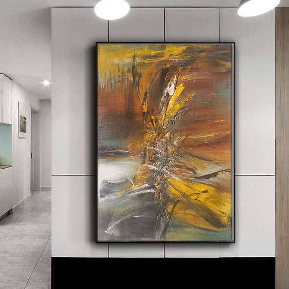 abstract oil on canvas paintings