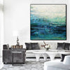 Blue modern oil painting | abstract painting on canvas | original painting L235