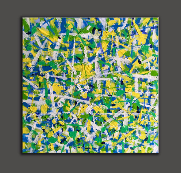 LargeArtCanvas  Square oil painting | Green oil painting-6