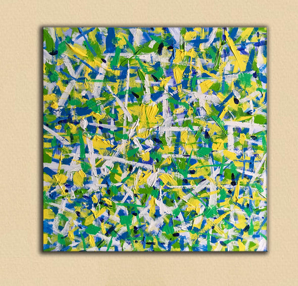 LargeArtCanvas  Square oil painting | Green oil painting-5