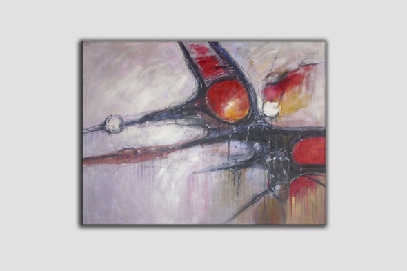 abstract painting on canvas