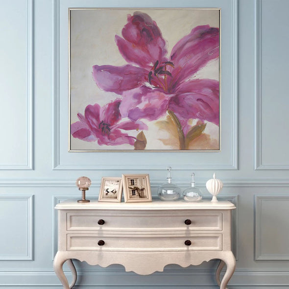flower abstract painting wall art