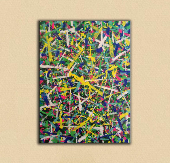 Abstract art paintings | Vertical oil painting | Decorative abstract paintings L771-8